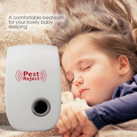 Ultrasonic Pest Repeller- Electronic Pest Control Plug-in Repellent for Mosquitoes, Mice, Ants, Roaches, Spiders, Bugs, Flies, Insects, Rodents(set of 4) Electric Pest Control