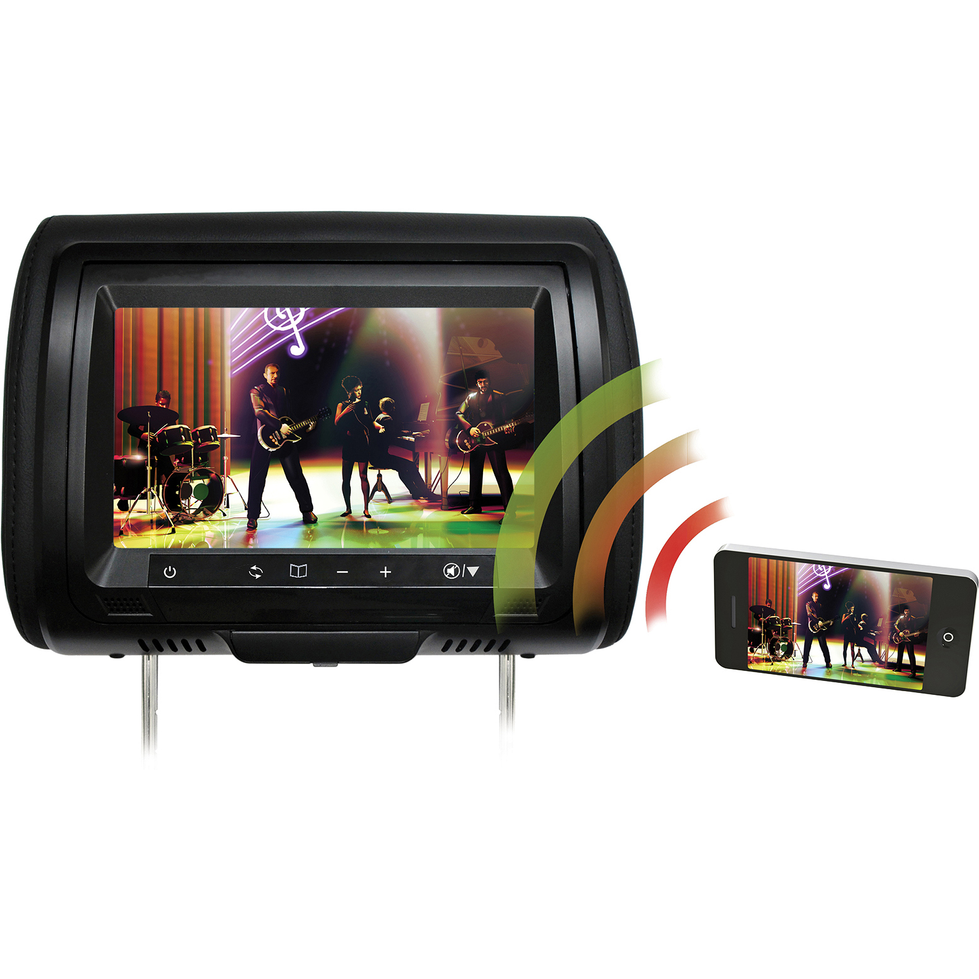 "Concept CLS-903M Chameleon 9"" LCD headrest with Miracast"