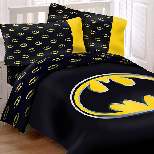Crover Batman Emblem Reversible Super Soft Luxury Comforter Set