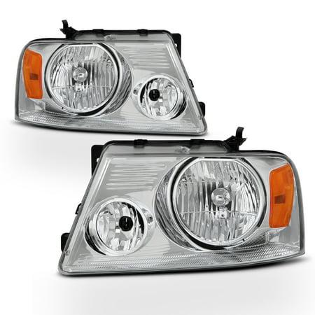 Fit 2004-2008 Ford F-150 F150 /2006 Lincoln Mark LT Headlights Headlamps L+R