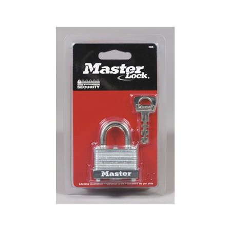 Master Lock 22D Laminated Steel Warded Padlock 1-1/2-Inch Wide Body 5/8-Inch Shackle