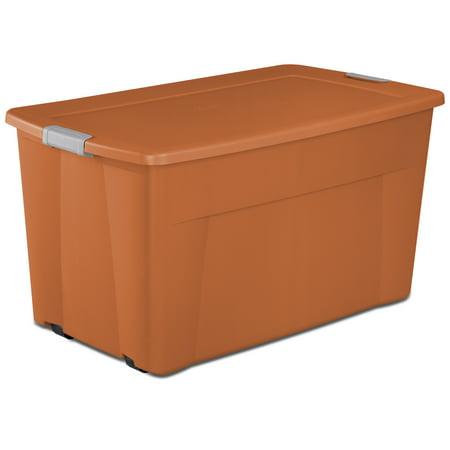 Sterilite 45 Gallon Orange Spice Wheeled Tote