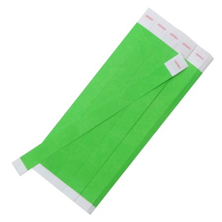 Wrist Bands - Solid Neon Green - 3/4 in - 100 Pieces](Wristband Light)