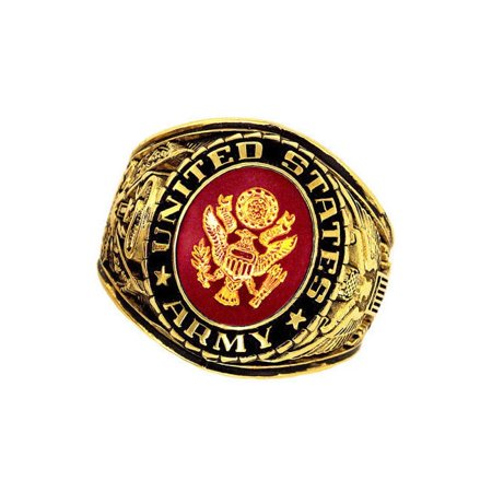 Official US Army Deluxe Engraved Gold Color Ring