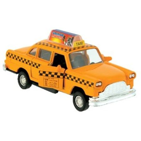 Classic New York City Old Fashion Yellow Taxi Cab Diecast Car model 5 inch