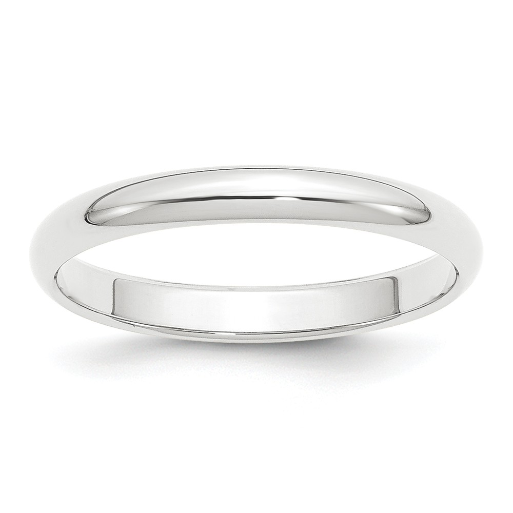Platinum 3mm Half-Round Wedding Band Ring Size 11.5 by Kevin Jewelers