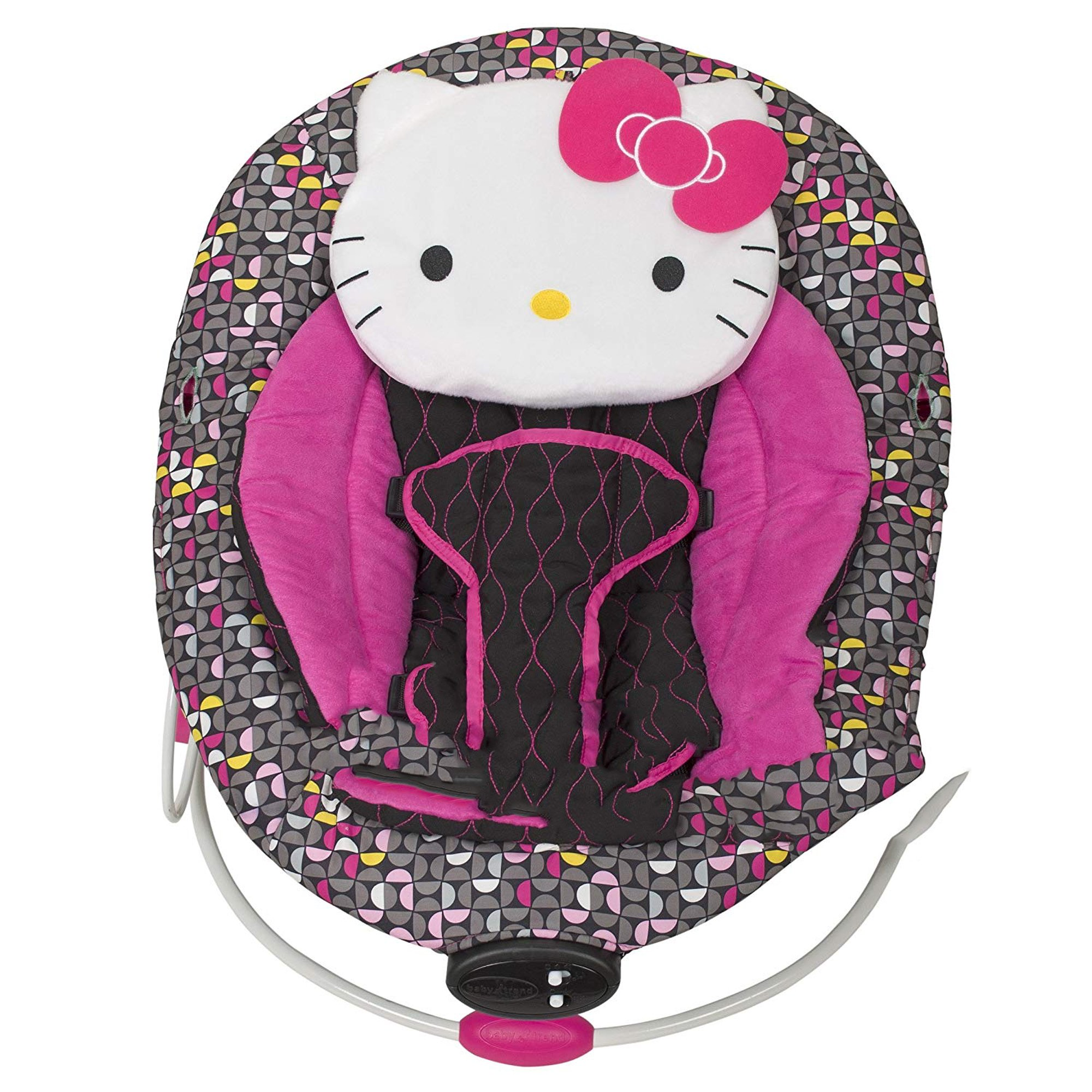 Baby Trend Cradle Bouncer Chair w/ 3 Point Safety Harness, Hello Kitty Pin Wheel