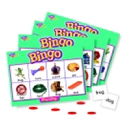 Trend Enterprises Rhyming Bingo Game, 28 Word Pairs And 36 Playing (Picture Words Bingo)
