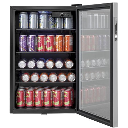 Haier Large Capacity 150 Can Stainless Steel Compact Beverage Center (2