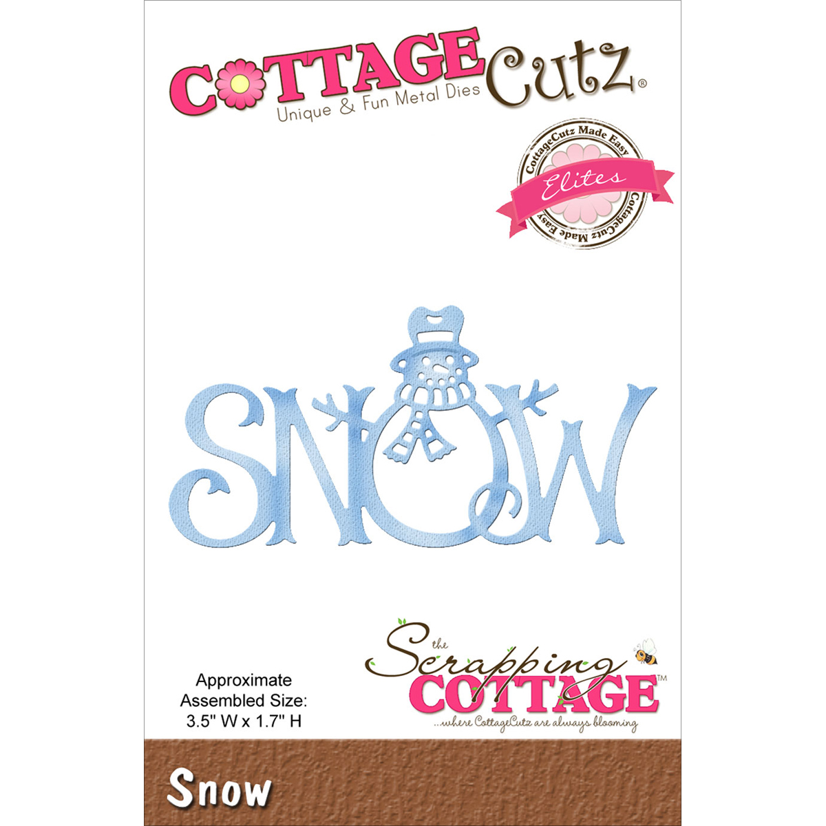 "CottageCutz Elites Die, Snow, 3.5"" x 1.7"""
