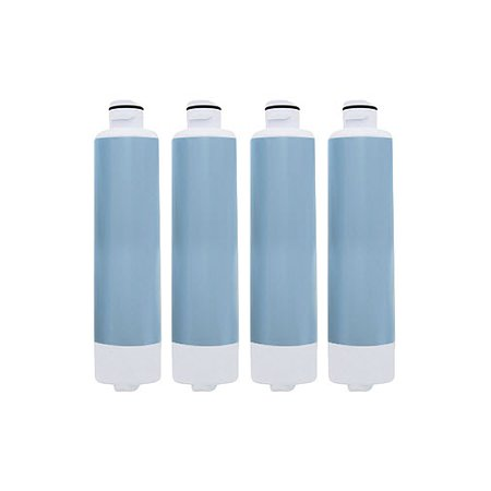 Replacement Water Filter Cartridge for Samsung Refrigerator Models RF23HCEDBBC/AA / RF263TE (4 Pack)