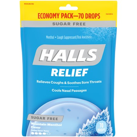 Halls Cough Drops, Mountain Menthol, 70 Ct (Cough Medicine For Dogs With Kennel Cough)