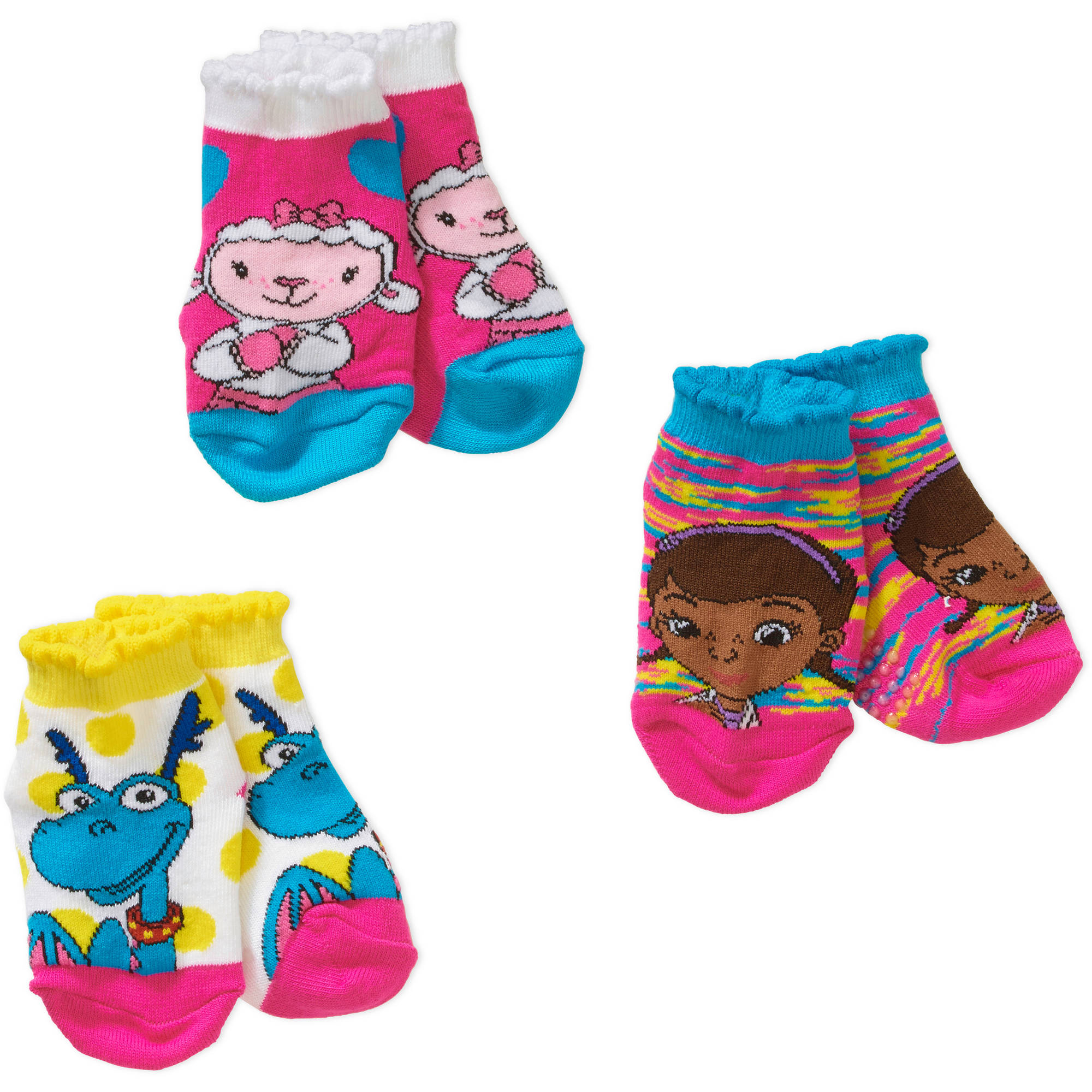 Toddler Girl Quarter Socks, 3-Pack