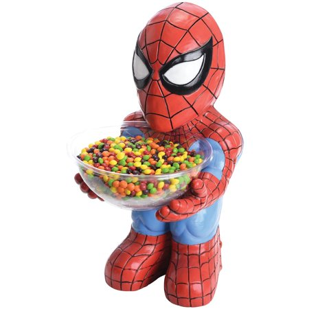 Spider-Man Candy Bowl Holder Halloween Decoration - Halloween Yard Decorations Ideas