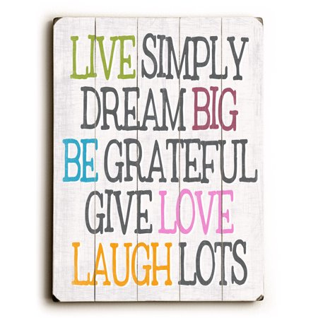 Live simply dream big - 12x16 Planked Wood Wall Decor by Misty ...