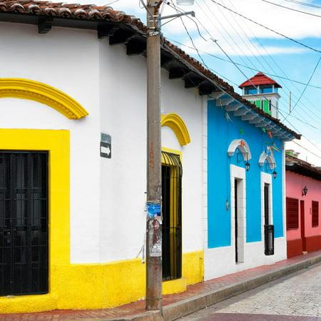 ¡Viva Mexico! Square Collection - Colorful Street in San Cristobal de Las Casas Print Wall Art By Philippe Hugonnard - Decorar Casa De Halloween