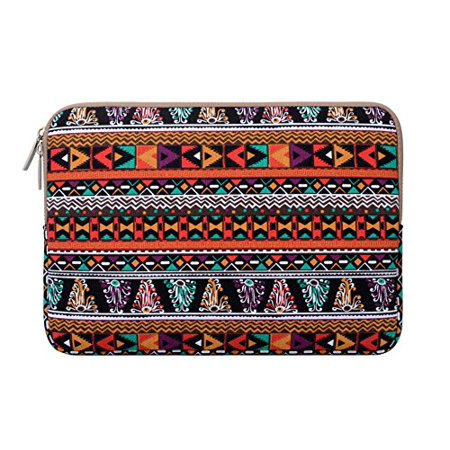 Mosiso Laptop Sleeve Bag for 11-11.6 Inch MacBook Air, Ultrabook Netbook Tablet, Bohemian Style Canvas Fabric Case Cover, (Mini Laptop Cases)