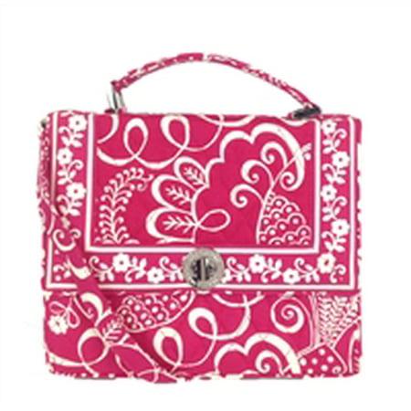 Vera Bradley Julia Top Handle Crossbody Bag  Twirly Birds Pink