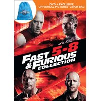 Fast & Furious Collection 5 - 8 (Walmart Exclusive) (DVD + Exclusive Universal Pictures Cinch Bag)