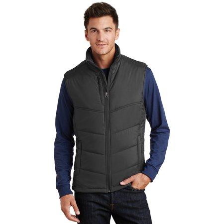 Port Authority® Puffy Vest. J709 Black/Black L - image 1 of 1