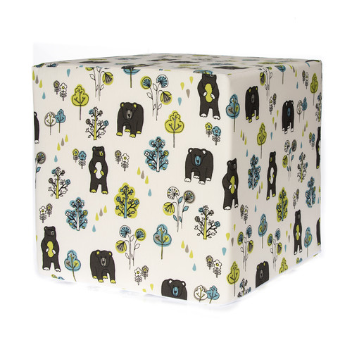 Glenna Jean North Country Bears Cube Ottoman