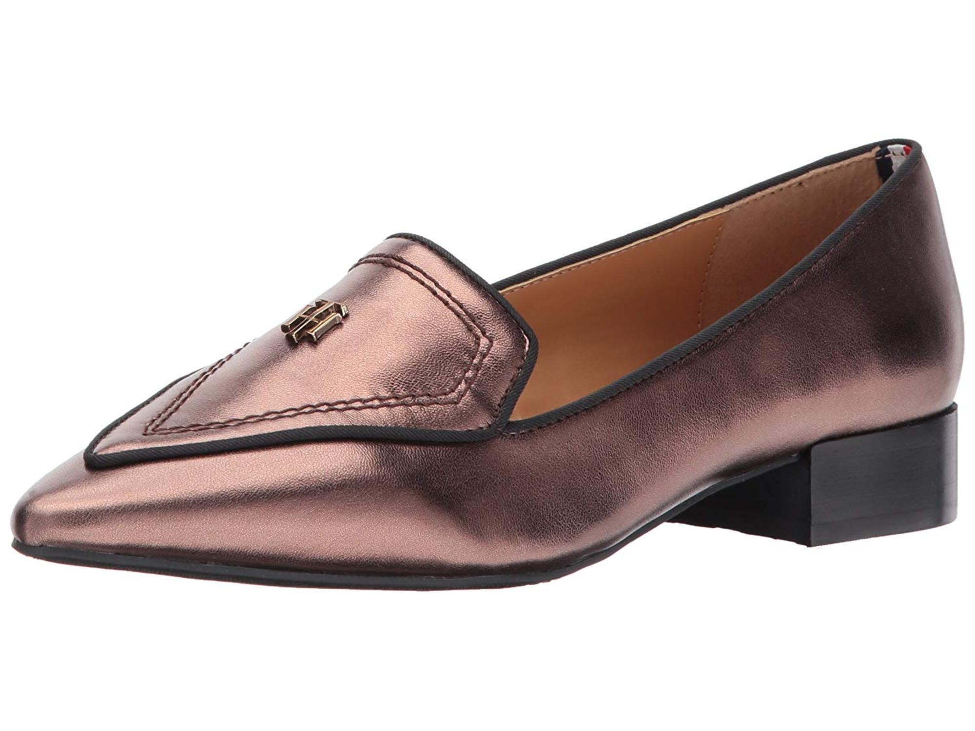 Tommy Hilfiger Damenschuhe Leder Harvard Leder Damenschuhe Pointed Toe Loafers cc06cd