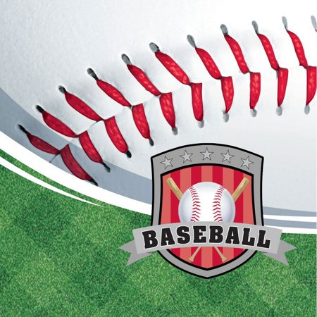 Team Sports Baseball 3-Ply Beverage Napkins 16 Per Pack, By Creative Converting Ship from US - Baseball Napkins