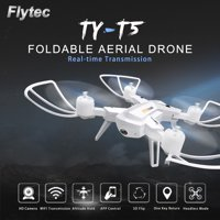 Flytec TY-T5 Foldable 2.0MP Camera Wifi FPV 6-Axis Gyro Altitude Hold Headless RC Quadcopter