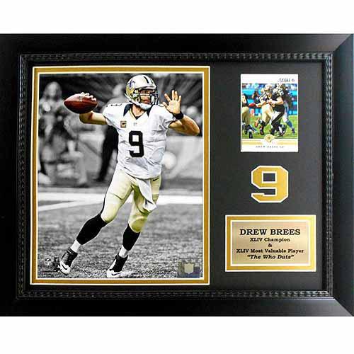 "NFL Drew Brees New Orleans Saints 11"" x 14"" Card Frame"