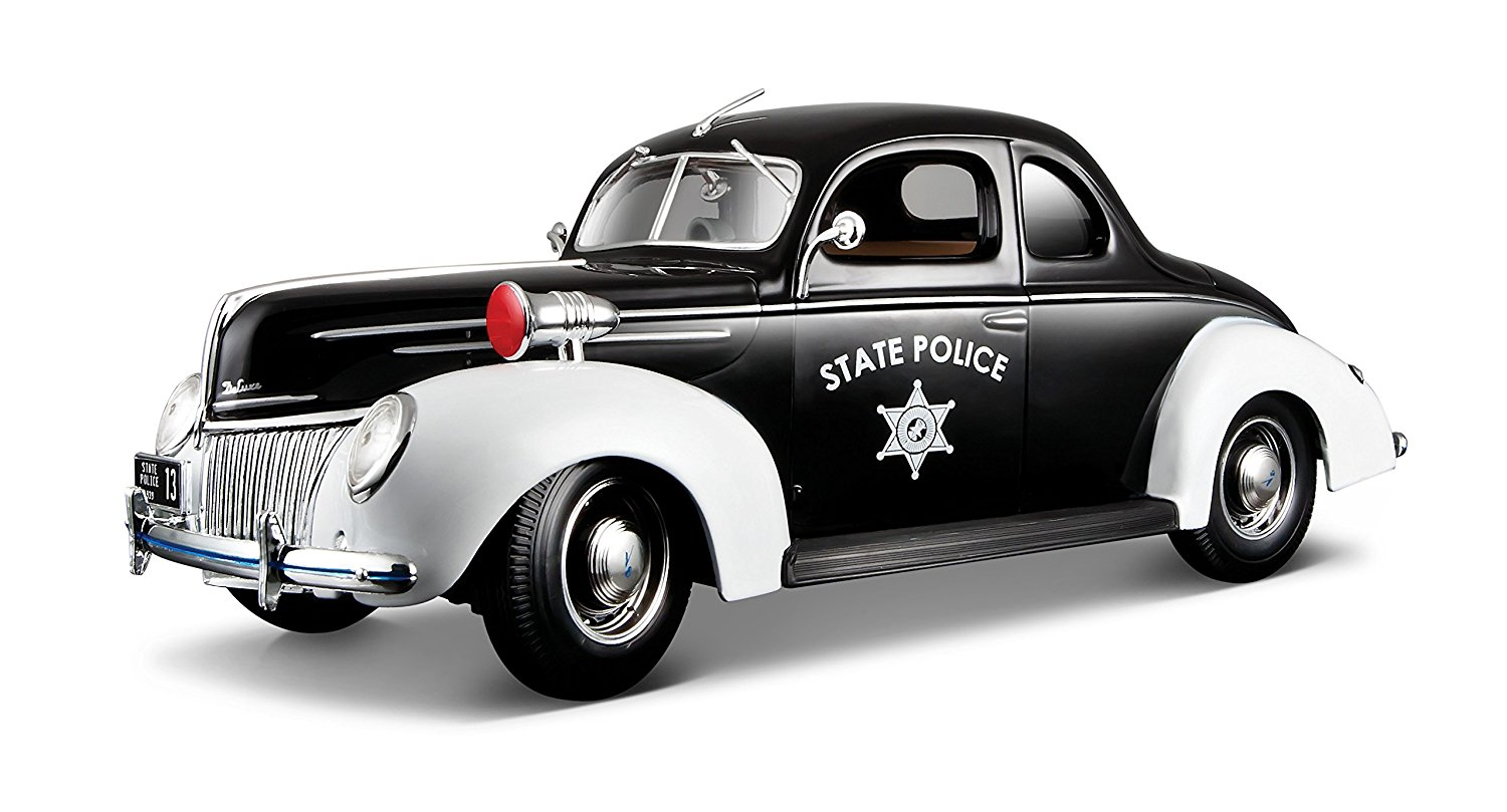1939 Ford Deluxe State Police Car Special Edition 1:18, Maisto 531366 1:18 Ford Deluxe... by