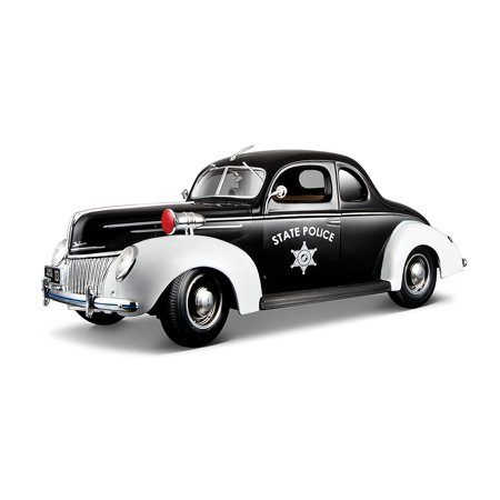 1939 Ford Deluxe State Police Car Special Edition 1:18, Maisto 531366 - 1:18 Ford Deluxe 1939 Polizei Auto By