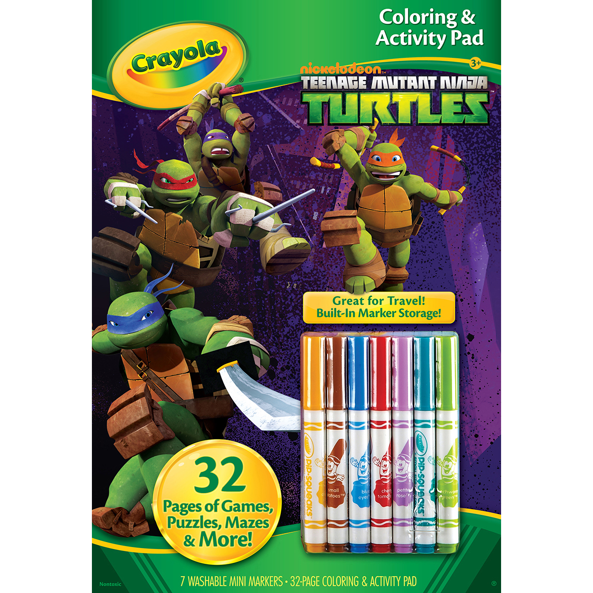 Crayola Coloring & Activity Pad W/Markers-Teenage Mutant Ninja Turtles