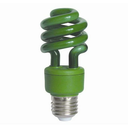 SUNLITE 05502 Compact Fluorescent 13W Super Mini Twist Green Colored CFL bulb