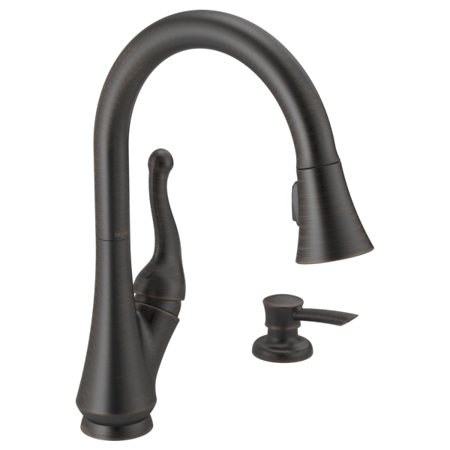 Delta Talbott: Single Handle Pull-Down Kitchen Faucet with Soap Dispenser