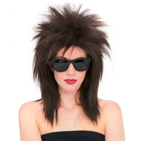Super Star Punk Rock Rocker 80s Costume Wig Brown R50725/71 for $<!---->