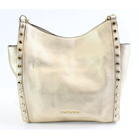 a101fea84a18 Michael Kors NEW Pale Gold Leather Newbury Medium Chain Shoulder Bag