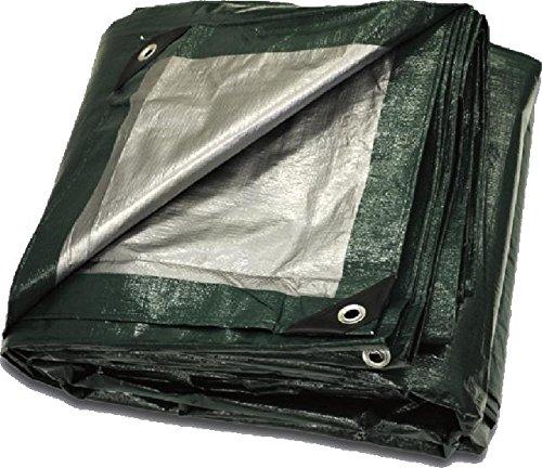 Super Heavy Duty Green// Black Poly Tarp 25 x 40