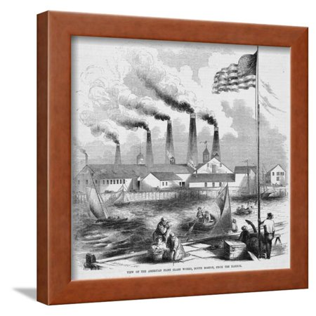 American Flint Glass Works Framed Print Wall Art