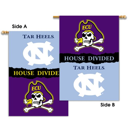 Team Pro-Mark NCAA Divided 2-Sided Polyester 3'4 x 2'4ft. House Flag