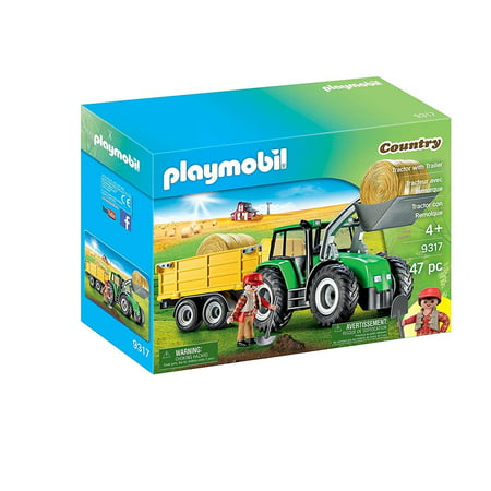 - PLAYMOBIL Tractor with Trailer