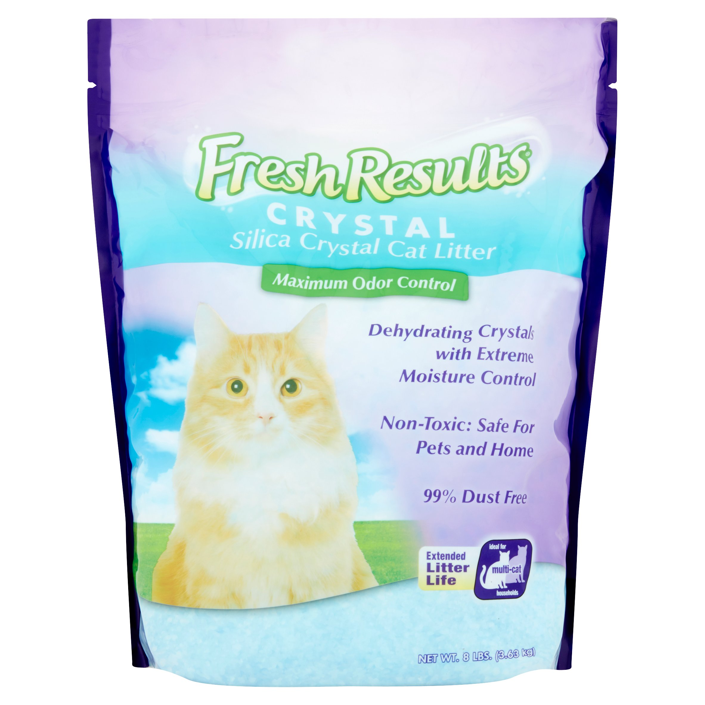 Fresh Results Silica Unique Crystal Action Cat Litter, 8 Lb