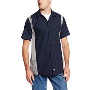 Dickies Occupational Workwear Ls524Dnsm Lt Polyester/ Cotton Men's Short Sleeve