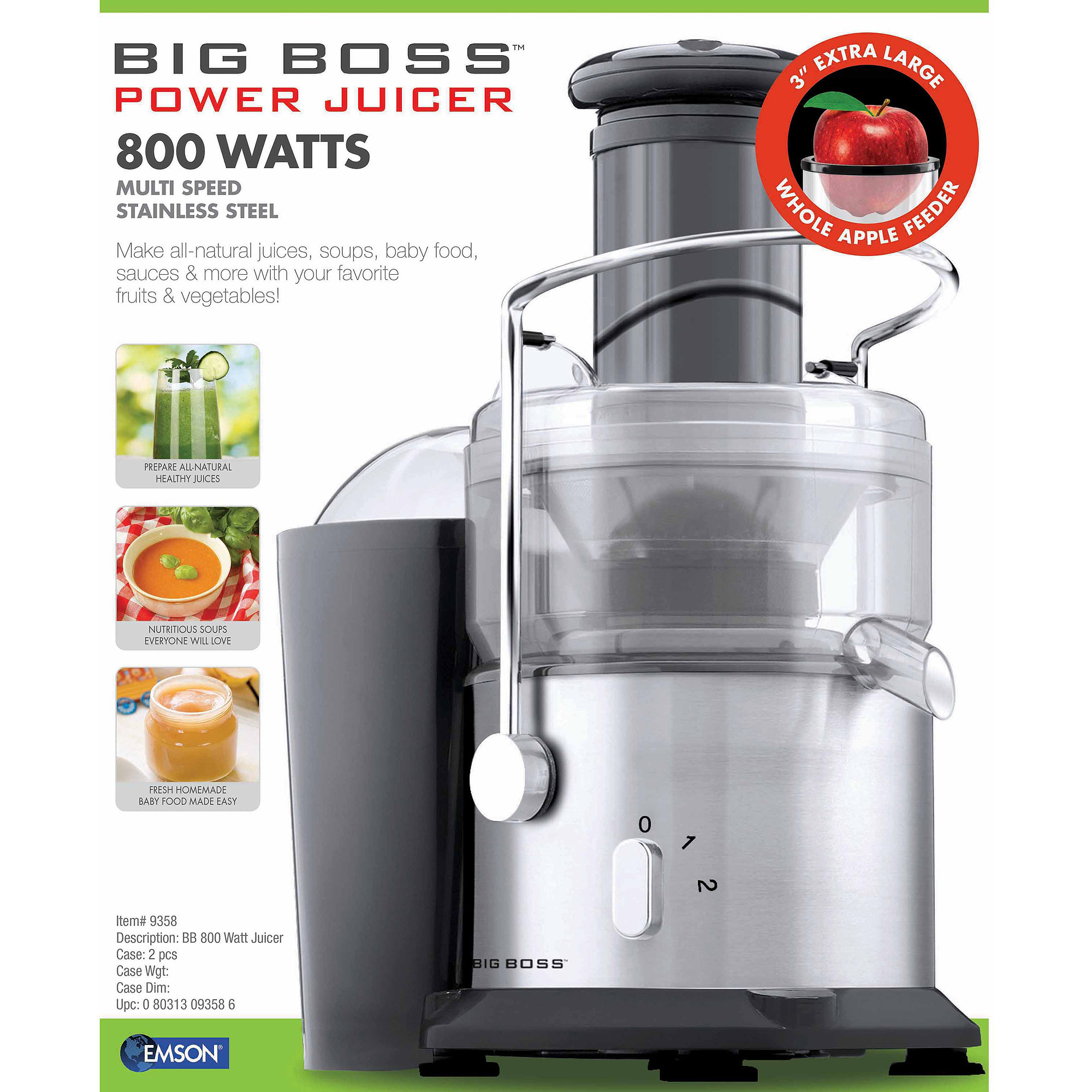 Big Boss 800-Watt Juicer by Emson
