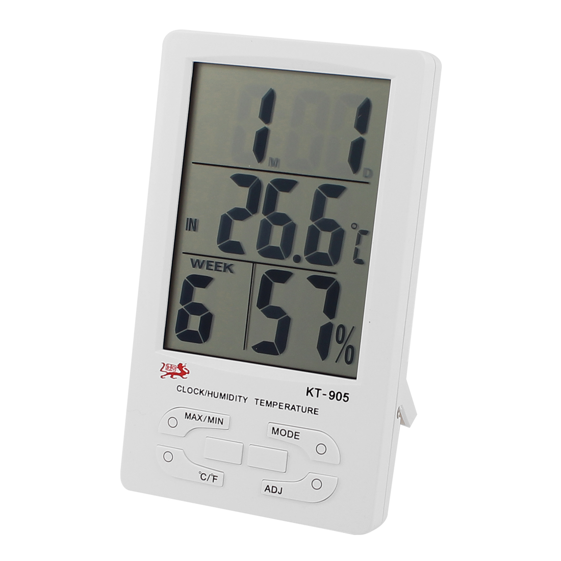 Unique Bargains LCD Digital Screen Temperature Humidity Hygrometer Meter White KT-905 by