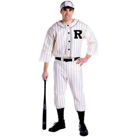 Old Tyme Baseball Player Adult Halloween Costume, Size: Men's - One Size - Football Player Costume Diy