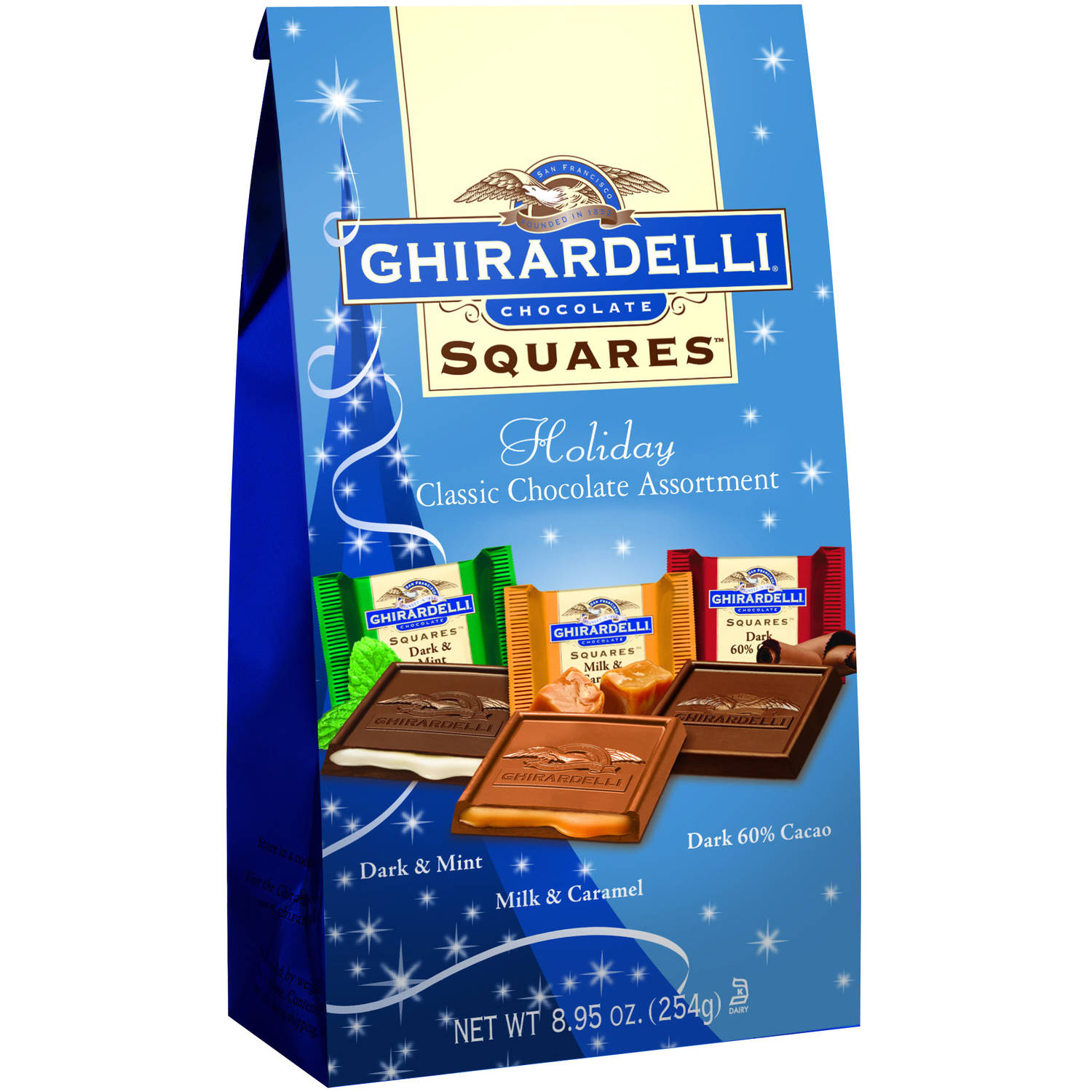 Ghirardelli Holiday Chocolate Squares Holiday Classic Chocolate Assortment , 8.95 oz
