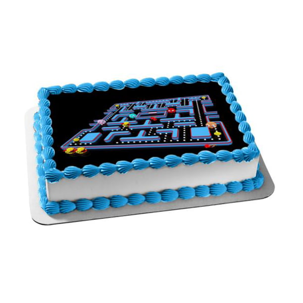 Super Pac Man Nemco Inky Blinky Pinky Clyde Fruit Edible Cake Topper Funny Birthday Cards Online Alyptdamsfinfo