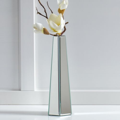 Torre & Tagus Hexagon Tower Mirror Panel Vase - Tall