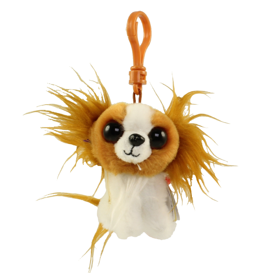 TY Beanie Baby - BARKS the Dog (Plastic Key Clip) (4 inch)