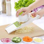 - Jeobest Kitchen Vegetable Cutter - Adjustable Mandoline Slicer Vegetable Slicer Vegetable Grater Cutter with 5 Ultra Sharp Interchangeable Stainless Steel Blades and Hand Guard Kitchen Tool MZ